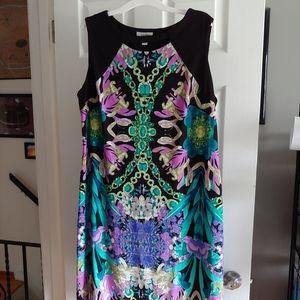 Sleeveless shift floral dress